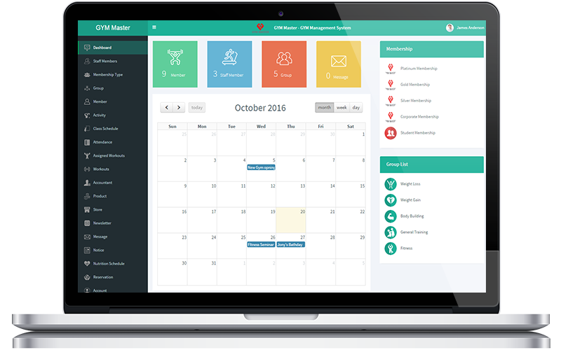 Gym Management System | Das Infomedia